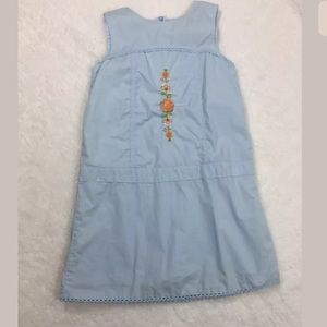Laura Ashley Little Girl 5 Embroidered  Blue Dress